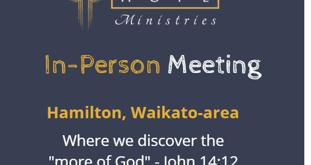 Hope Ministries - In Person Meeting